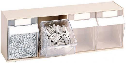 Klarsichtmagazin (B x H x T) 601 x 76.5 x 64.5 mm Grau, Transparent MultiStore 1 St.