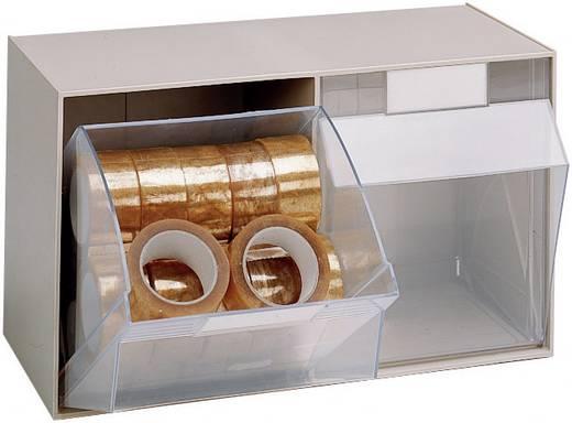 Klarsichtmagazin (B x H x T) 601 x 353 x 310.5 mm Grau, Transparent MultiStore 1 St.