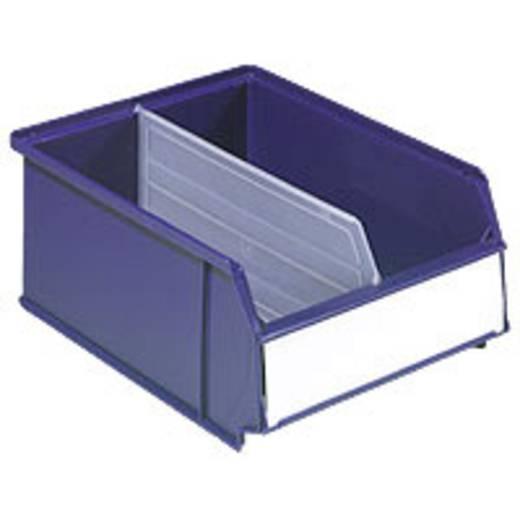 Sichtlagerkasten (B x H x T) 230 x 120 x 300 mm Dunkel-Blau (RAL 5022) 6323-600R 1 St.
