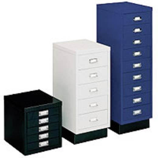 SSI-Schubladenschrank DIN A4 Schwarz (RAL 9005) 5 Schubladen á 102 mm Höhe (B x H x T) 280 x 675 x 432 mm