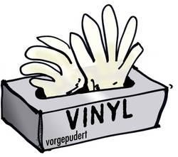 Ochranné jednorázové rukavice, velikost XL, 24 cm, transparentní, 100 ks