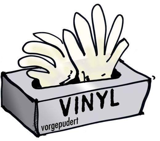 Vinyl Einweghandschuh Größe (Handschuhe): 8, M EN 455 L+D 14692 100 St.