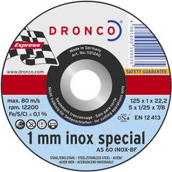 10díl. sada rozbrušovacích kotoučů AS60T INOX 125 x 1 mm