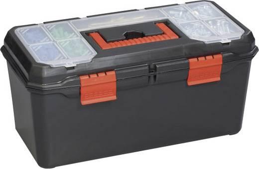 Werkzeugkasten unbestückt Alutec 56270 Kunststoff Schwarz, Orange