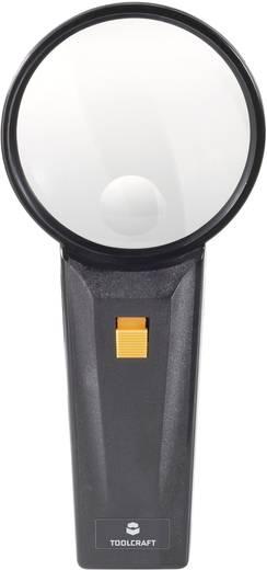 Handlupe mit LED-Beleuchtung Vergrößerungsfaktor: 2 x, 4 x Linsengröße: (Ø) 75 mm TOOLCRAFT 821031 821031
