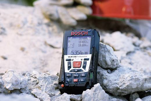 """Bosch Professional GLM 150 Laser-Entfernungsmesser Kalibriert nach ISO Stativadapter 15.8 mm (5/8"""") Messbereich (max.) 1"""