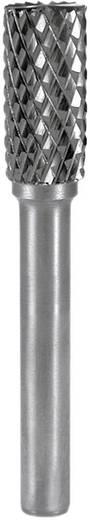 HM Frässtift Form A Zylinder (ZYA) mit Stirnverzahnung RUKO 116017 Kugel-Durchmesser 10 mm Hartmetall Schaft-Ø 6 mm