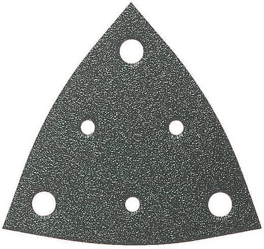 Deltaschleifpapier mit Klett, gelocht Körnung 80 Eckmaß 80 mm Fein 63717110043 5 St.