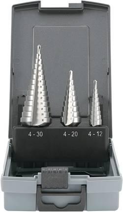 Sada stupňovitých vrtáků Toolcraft HSS, 3 ks