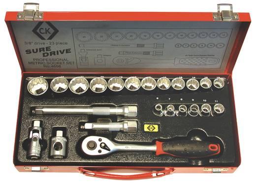 """Steckschlüsselsatz metrisch 3/8"""" (10 mm) 23teilig C.K. T4656"""