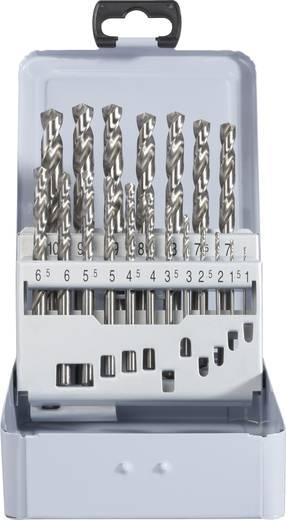 HSS Metall-Spiralbohrer-Set 19teilig TOOLCRAFT 822600 geschliffen DIN 338 Zylinderschaft 1 Set
