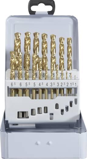 HSS Metall-Spiralbohrer-Set 19teilig TOOLCRAFT 822605 TiN DIN 338 Zylinderschaft 1 Set