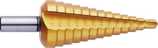 HSS Stufenbohrer-Set 3teilig 4 - 12 mm, 4 - 20 mm, 6 - 30 mm TiN Exact 5351 3-Flächenschaft 1 Set