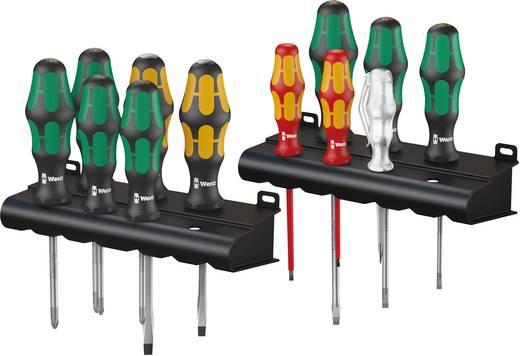 Werkstatt Schraubendreher-Set 12teilig Wera Kraftform XXL Schlitz, Kreuzschlitz Phillips, Kreuzschlitz Pozidriv