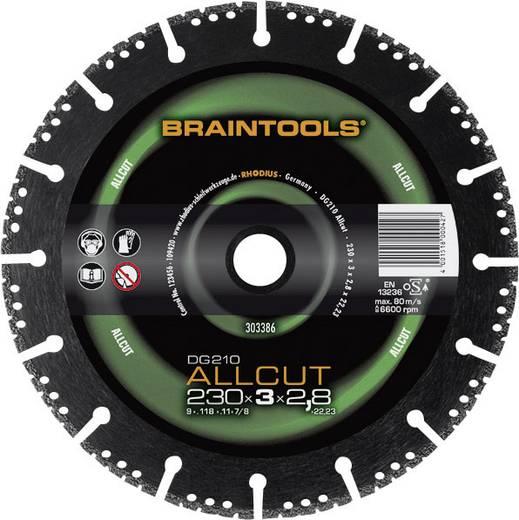 Diamant-Trennscheibe DG210 ALLCUT Braintools Rhodius 303391 Durchmesser 230 mm Innen-Ø 22.23 mm