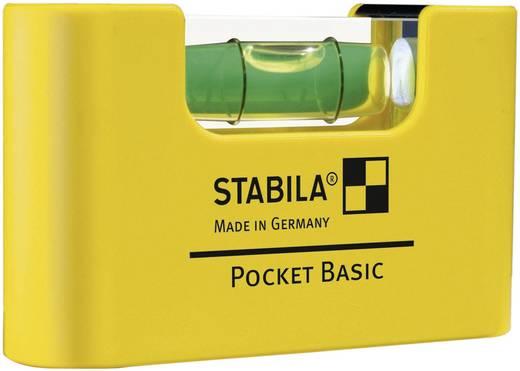 Mini-Wasserwaage 7 cm Stabila POCKET BASIC 17773 1 mm/m Kalibriert nach: Werksstandard (ohne Zertifikat)