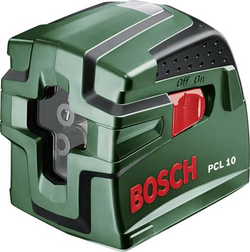 Kreuzlinienlaser selbstnivellierend, inkl. Stativ Bosch PCL 10 SET Reichweite (max.): 10 m Kalibriert nach: Werksstanda