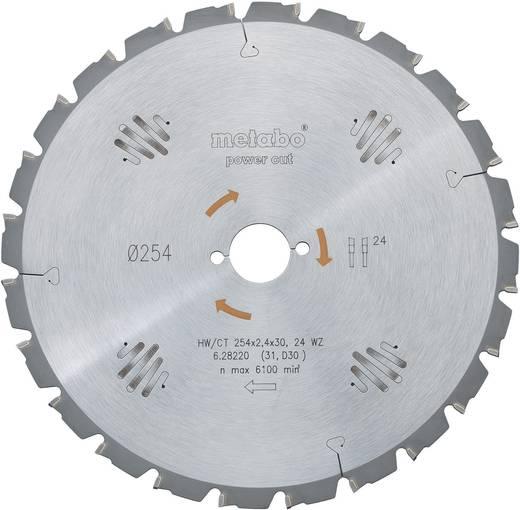 HM-Kreissägeblatt Ø 254 x 30 mm 24 WZ Metabo 628220000 Zähneanzahl: 24 Dicke:1.8 mm Sägeblatt