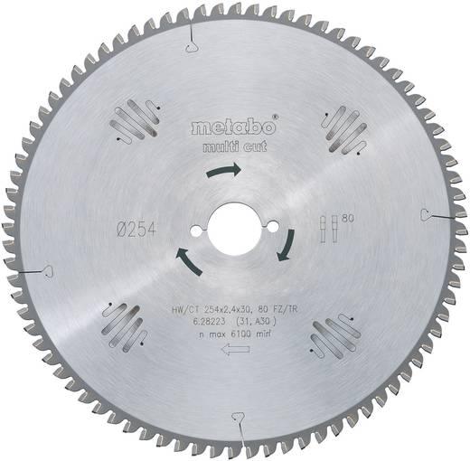"""Hartmetall-Kreissägeblatt """"multi cut"""" HW/CT 254x30 80 FZ/TZ Metabo 628223000 Zähneanzahl: 80 Dicke:1.8 mm Sägeblatt"""