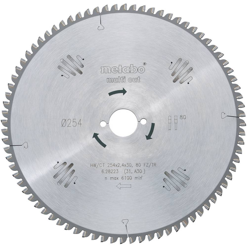 Hard metal circular saw blades multi cut hwct 254x30 80 fztz hard metal circular saw blades multi cut hwct 254x30 80 fztz metabo 628223000 keyboard keysfo Image collections