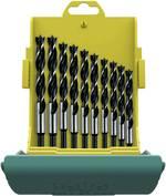 Jeu de forets pour le bois acier chrome-vanadium 3 mm, 4 mm, 5 mm, 6 mm, 7 mm, 8 mm, 9 mm, 10 mm, 11 mm, 12 mm 10 pièces