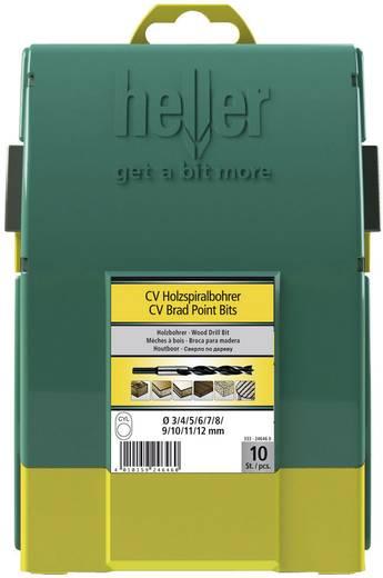 Holz-Spiralbohrer-Set 10teilig Heller 24646 0 Zylinderschaft 1 Set