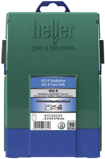 HSS Metall-Spiralbohrer-Set 19teilig Heller 17737 5 rollgewalzt DIN 338 Zylinderschaft 1 Set