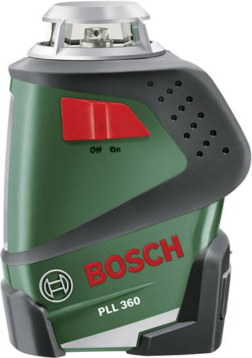 Linienlaser selbstnivellierend Bosch PLL 360 Reichweite (max.): 20 m Kalibriert nach: Werksstandard