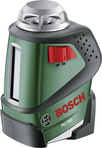 Linienlaser selbstnivellierend Bosch PLL 360 Reichweite (max.): 20 m Kalibriert nach: Werksstandard (ohne Zertifikat)
