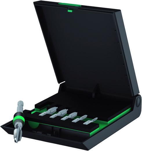 Einschnittgewindebohrer-Set 7teilig metrisch Rechtsschneidend Wera 05104654001 DIN 3126 HSS 1 St.
