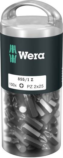 "Wera 855/1 Z (100xPZ1/25) DIY Box Pozidriv-Bits 05072443001 Kreuzschlitz-PZ Bit Pozidriv 6,3 mm (1/4"") Länge:25 mm"