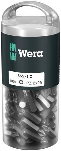 "Wera 855/1 Z (100xPZ2/25) DIY Box Pozidriv-Bits 05072444001 Kreuzschlitz-PZ Bit Pozidriv 6,3 mm (1/4"") Länge:25 mm"