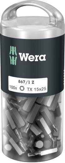Torx-Bit T 15 Wera 867/1 Z TORX® DIY 100 SiS Werkzeugstahl legiert, zähhart D 6.3 100 St.