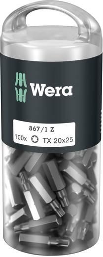 Torx-Bit T 20 Wera 867/1 Z TORX® DIY 100 SiS Werkzeugstahl legiert, zähhart D 6.3 100 St.