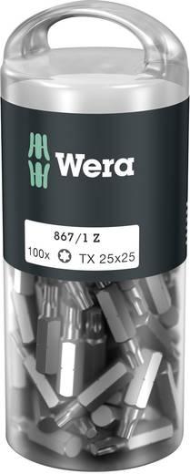 Torx-Bit T 25 Wera 867/1 Z TORX® DIY 100 SiS Werkzeugstahl legiert, zähhart D 6.3 100 St.