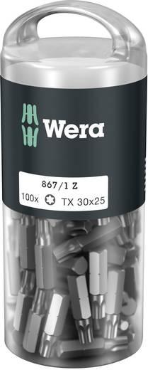 Torx-Bit T 30 Wera 867/1 Z TORX® DIY 100 SiS Werkzeugstahl legiert, zähhart D 6.3 100 St.