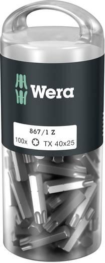 Torx-Bit T 40 Wera 867/1 Z TORX® DIY 100 SiS Werkzeugstahl legiert, zähhart D 6.3 100 St.