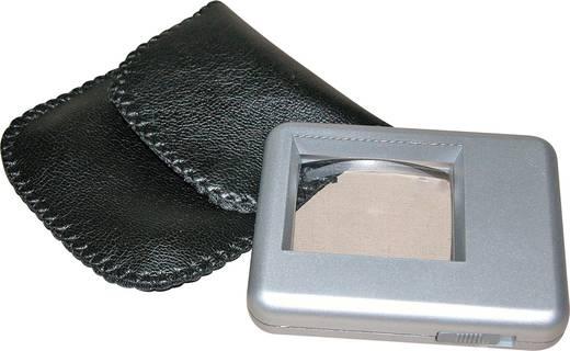 Leselupe mit LED-Beleuchtung Linsengröße: (L x B) 38 mm x 30 mm Silber REISE- UND LESELUPE 5FACH