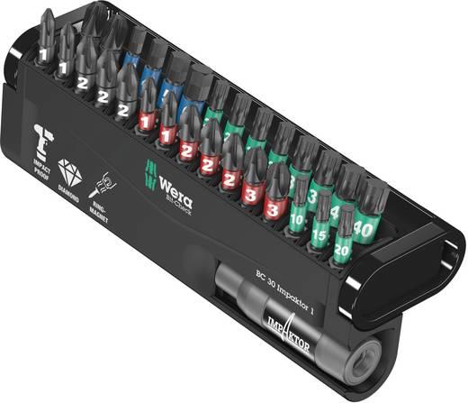 Bit-Set 30teilig Wera BC Impaktor/30 Bit-Check 05057690001 Kreuzschlitz Phillips, Kreuzschlitz Pozidriv, Innen-TORX, Inn