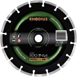 Diamantový rezací kotúč, segmentovaný Rhodius 394138, Ø 230 mm, vnútorný Ø 22.23 mm, 1 ks