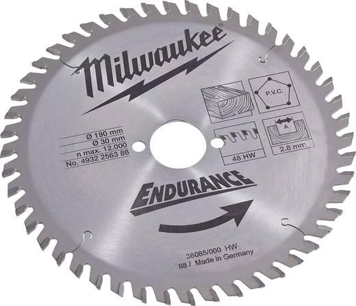 Hartmetall Kreissägeblatt 190 x 30 x 2.8 mm Zähneanzahl: 48 Milwaukee 4932256388 1 St.