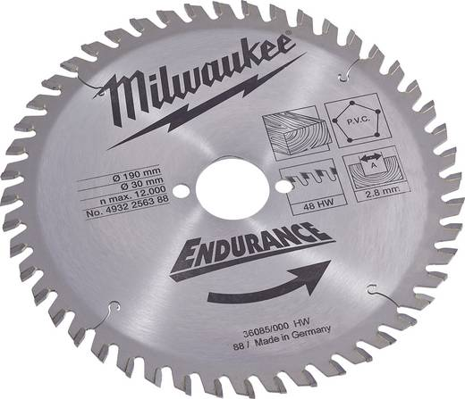 HM-Kreissägeblatt Milwaukee 4932256388 Dicke:2.8 mm Sägeblatt
