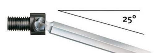 ESD Innen-Sechskantschraubendreher Wiha Schlüsselweite (Metrisch): 2.5 mm Klingenlänge: 60 mm
