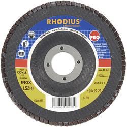 Lamelový brusný kotouč Rhodius LSZ-F1 205587, Ø 125 mm/22.2 mm, zrnitost 120