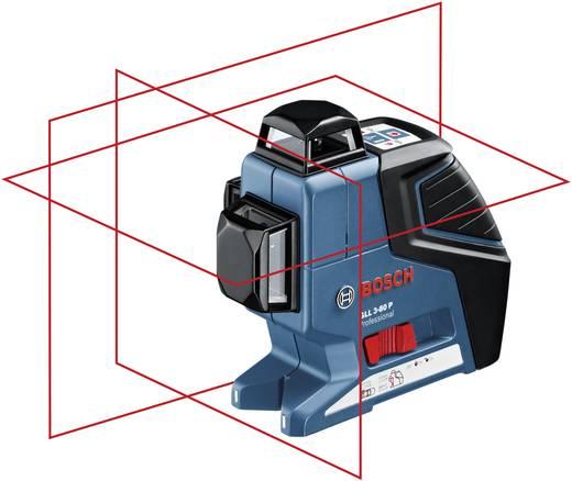 Linienlaser selbstnivellierend Bosch GLL 3-80 P Reichweite (max.): 40 m Kalibriert nach: Werksstandard