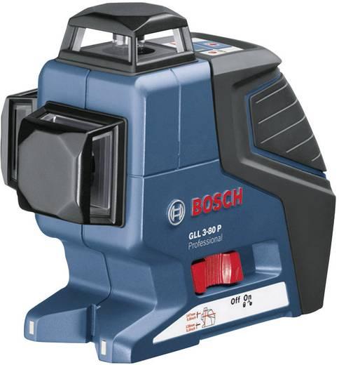 Linienlaser selbstnivellierend Bosch Professional GLL 3-80 P Reichweite (max.): 40 m Kalibriert nach: Werksstandard (oh