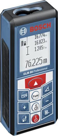 """Bosch GLM 80 Laser-Entfernungsmesser Li-Ionen Akku, Stativadapter 6.3 mm (1/4"""") Messbereich (max.) 80 m Kalibriert nach: Werksstandard"""