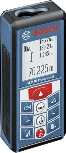 "Bosch Professional GLM 80 Laser-Entfernungsmesser Li-Ionen Akku, Stativadapter 6.3 mm (1/4"") Messbereich (max.) 80 m Kal"