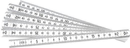 Maßstab 2 m Kunststoff Brüder Mannesmann KUNST.GLIEDERUNGSSTAB 2M 810-PVC-2M