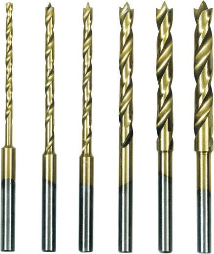 HSS Metall-Spiralbohrer-Set 6teilig Proxxon Micromot 28 876 TiN Zylinderschaft 1 Set
